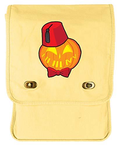 Tenacitee Timey Wimey Pumpkin Goldenrod Canvas Field -