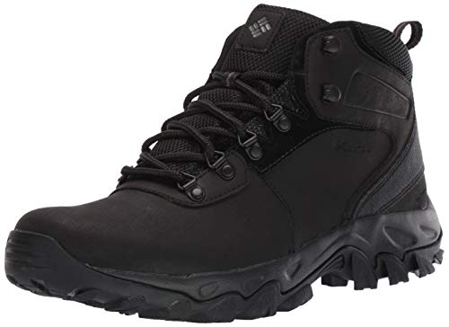 Columbia Men's Newton Ridge Plus II Waterproof Hiking Boot-Wide, Black, 9.5 Regular US