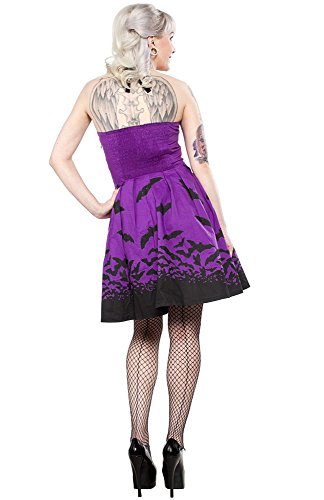 Women's Sourpuss Clothing Bats Spooksville Dress Purple L