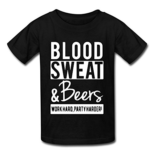 ldmh-youths-unisex-blood-sweat-and-beers-tshirt-black