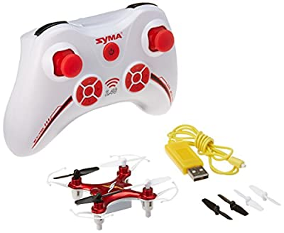 Syma X12 Mini Nano 6-Axis Gyro 4 Channel RC Quadcopter (RED)