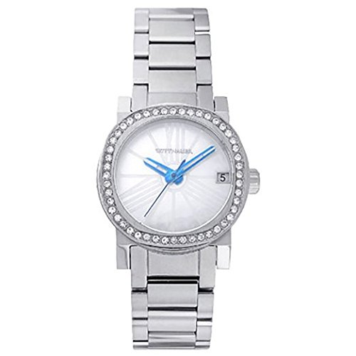 (Wittnauer WN4000 Women's Watch Mother of Pearl Dial Silver Stainless Steel Crystals)