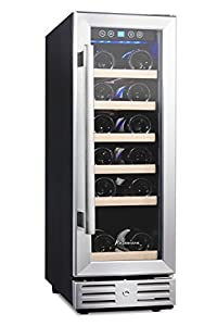 """Kalamera 12"""" Wine Cooler 18 Bottle Single Zone Touch Control Built-in – It looks great and fit perfectly in the trash compactor space"""