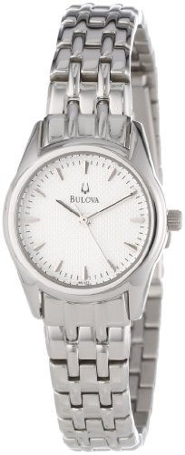 (Bulova Women's 96L127 Bracelet Silver White Dial Watch)