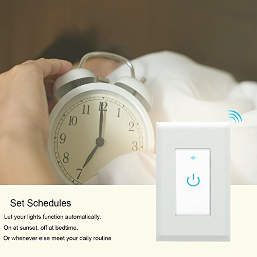 Wifi Smart Switch, Wifi Light Switch 2 Packs, Works with Amazon Alexa and  Google Home, App Remote Control with Timing Funtion, No Hub Required