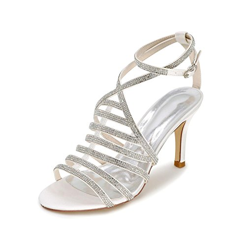 Summer Evening Wedding Skirt Women'S Wedding Spring Sandals Sandals L autumn YC Shoes amp; Glittering Party White xwYvt6nnq4