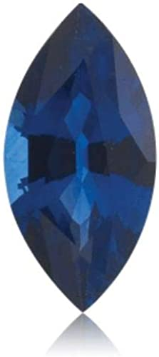 Synthetic Emerald Cut Swiss Made Rough Blue Sapphire from 5x3MM-18x13MM