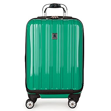 Delsey Luggage Helium Aero Expandable 19 Inch International Carry-On Spinner Suitcase, Emerald Green
