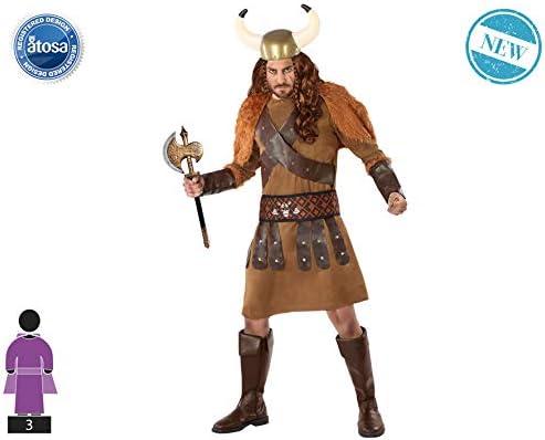 Atosa-61400 Atosa-61400-Disfraz Vikingo-Adulto Hombre, Color ...