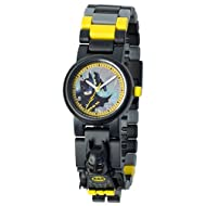 LEGO Batman Movie 8020837 Batman Kids Minifigure Link Buildable Watch | black/yellow | plastic | 28mm case diameter| analog quartz | boy girl | official