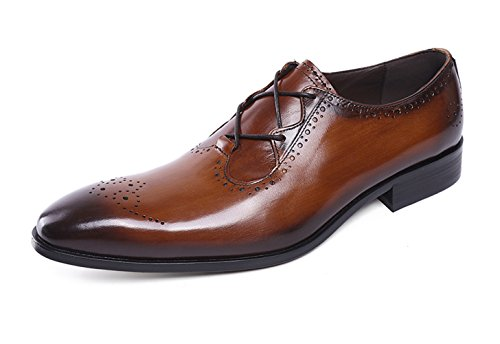 Felix Chu Men's Italian Designer Luxury Perfect Genuine Calf Leather Shoes Men Dress Shoes Men Wedding Shoes Men Office Business Shoes by Felix Chu