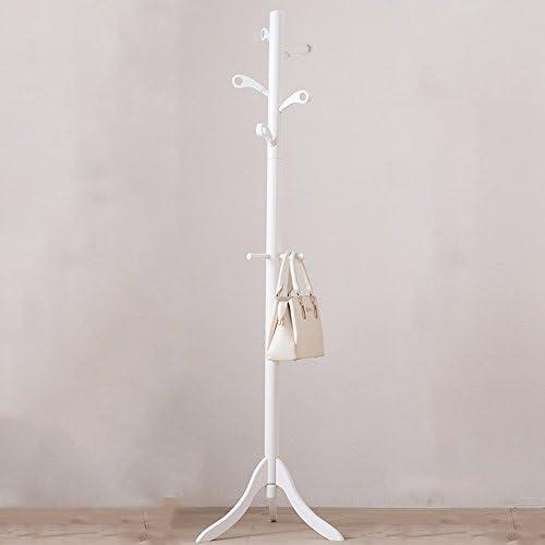 ZHIRONG コートラック家庭用床材ソリッドウッド8フックハンガー179 * 50CM ( 色 : 白 )