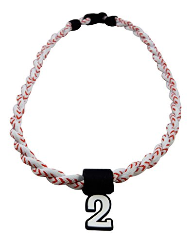Pick Your Number - Twisted Titanium Sports Tornado Necklace (Baseball Stitch)
