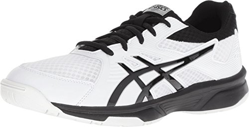 ASICS Men's Upcourt 3 Volleyball Shoes, White/Black, Size 10.5