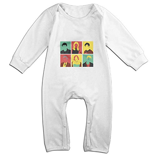 [Raymond Buffy Pop Art Long Sleeve Jumpsuit Outfits White 12 Months] (Pop Art Girl Costume Outfit)