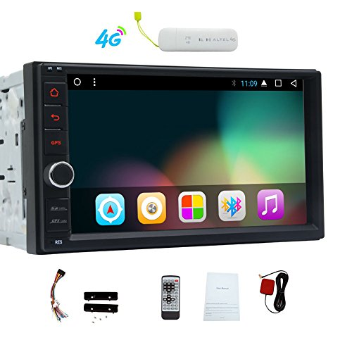 Eincar Android 7.1 Nougat System GPS Navigation Double Din 7 Inch Car Stereo NO-DVD 2 DIN In Dash gps Head Unit With SWC Dual CAM-IN OBD Bluetooth Mirror link WIFI/4G MP3 1080p Video