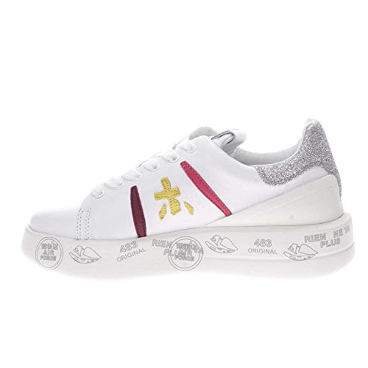 Premiata Belle Var 3141 sneaker In Pelle Donna bianco 39