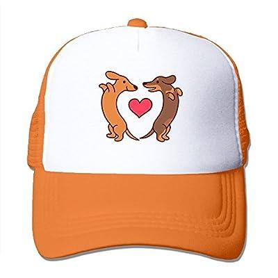 Swesa Cute Dachshunds Adjustable Snapback Baseball Cap Mesh Trucker Hat from Swesa