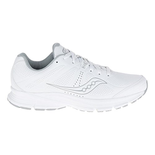Saucony Women's Grid Momentum Walking Shoe, White/Grey, 8.5 M US