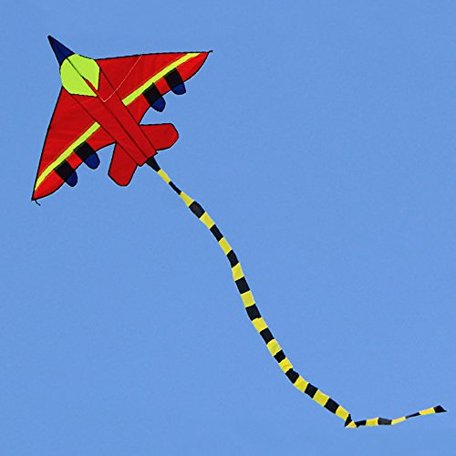 Hengda kite Long Tail Cartoon Fighter Kites The Plane Kite for Children 1.5m with Flying Line