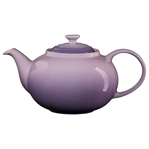 Le Creuset PG0328-00BP Enameled Stoneware Traditional Teapot, 1.4 quart, - Tea Traditional Pot