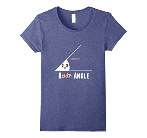 Womens Funny Math Pun T-Shirt Small Heather Blue