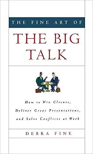The Fine Art of the Big Talk