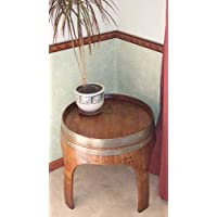 22 Solid Oak End Table with Arch Legs Made By Wine Barrel Creations