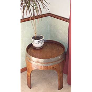 Amazoncom Wine Barrel Creations 22 Solid Oak End Table With Arch