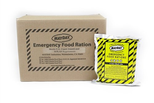Mayday Food Bars Emergency 1200 Calorie Food Bars (36 per case) weight 24 lbs
