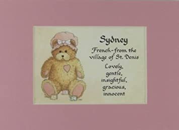 Meaning of sydney baby name