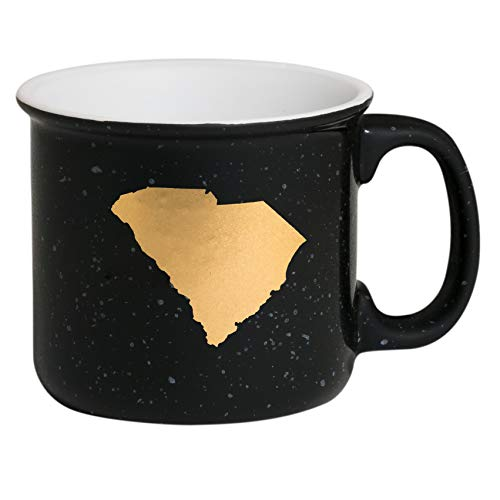 - About Face Designs 186616 State of South Stoneware Coffee Mug, 13.5 Oz, Black