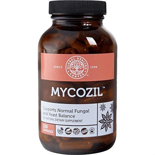 Mycozil All Natural Yeast & Fungal Cleanser Made from Wildcrafted Herbs by Global Healing Center (120 Capsules)