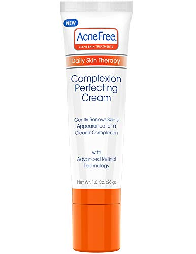 AcneFree Daily Skin Therapy Complexion Perfecting Cream for Overnight Skincare with Retinol and Hyaluronic Acid, 1 Ounce
