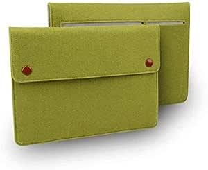 Wool Felt Laptop Bag Case for Apple Mac Book 12, Green Color