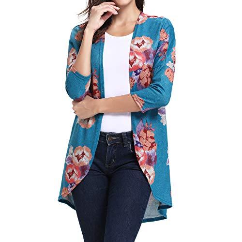 Ladies Vintage Maxi Kimono Coat Boutique Clothing Blue 2XL