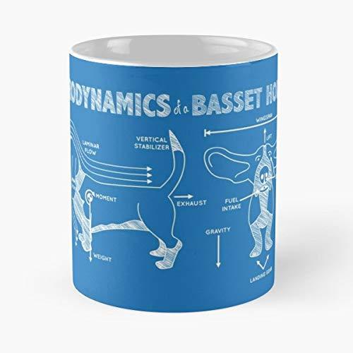 Basset Hound Dog Morning Coffee Mug Ceramic Novelty Holiday