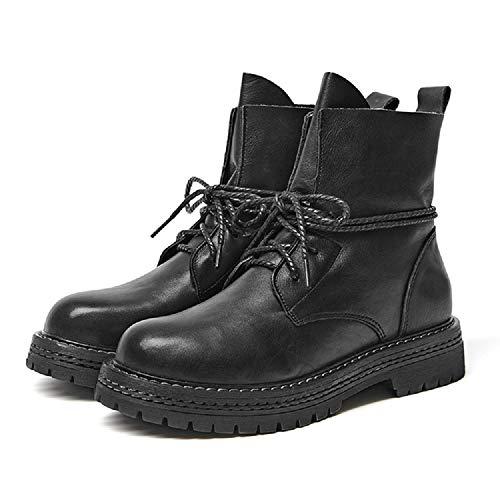 Stringate Stringate Stringate Piatte Dimensione Marrone in EU Boots Women Colore Colore Colore ZHRUI Pelle 38 Scarpe Nero Martin wFgI1qp