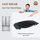 Primeswift Refrigerator Drip Tray WR17x11655 Recess Grille Tray (7 inch width),Replacement for GE Kenmore AP3775570,1092132,Black