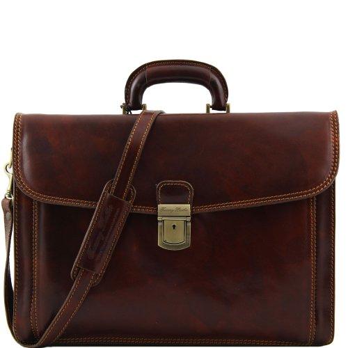 Tuscany Leather , Herren Schultertasche Braun braun