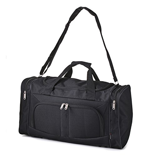 5 Cities Carry On Lightweight Small Hand Luggage Cabin on Flight & Holdalls (Black)