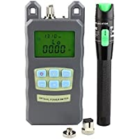 Goeco -70 to +10dbm Fiber Optic Cable Tester FC SC & 2.5mm 20mw Red Light Visual Fault Locator with Sc and Fc Connector