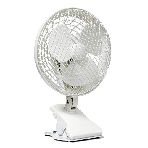 VIVOSUN 6 Inch Portable Desk Clip On Fan for Home a with 2-Speed Whisper Quiet Operation (Best Fan For Grow Tent)