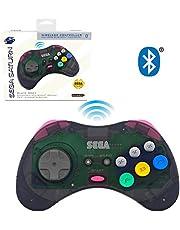 Sega Saturn Slate Grey 8-Button Bluetooth Wireless Arcade Pad [Retro-Bit]