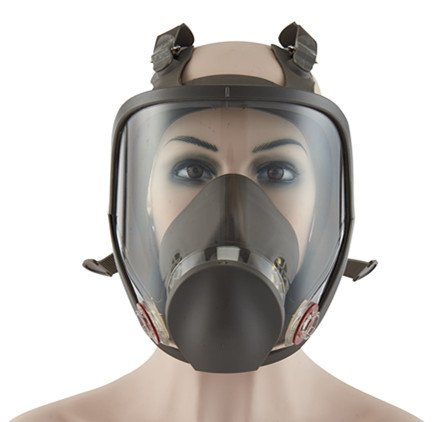 Holulo Full Face Facepiece Respirator Paint Spray Mask with 2 x Organic Vapor Cartridges by Holulo (Image #4)