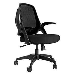 Hbada Office Chair Desk Chair Flip-up Armrest Ergonomic Task Chair Compact 120° Locking 360° Rotation Seat Surface Lift…