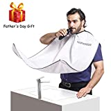 MARKKEER Beard Shaving Apron for Men Shaving,Hair Clippings Catcher & Grooming Cape Apron Trimming Non-Stick Hair,Waterproof,Anti-static Father's Day Gift