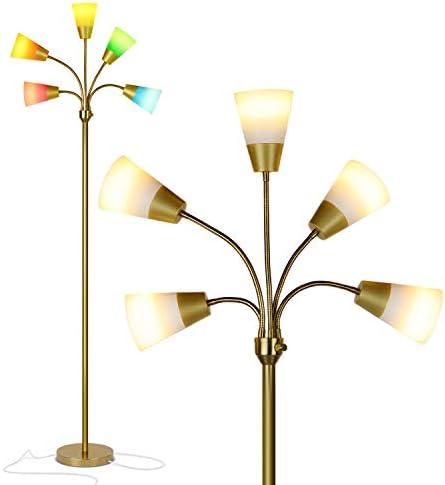 Brightech Medusa Modern LED Floor Lamp Contemporary Multi Head Standing Reading Lamp