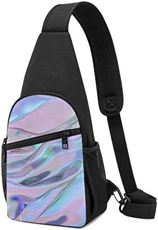 ボディ肩掛け 斜め掛け 波柄 ショルダーバッグ ワンショルダーバッグ メンズ 軽量 大容量 多機能レジャーバックパック