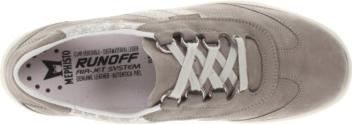 Women's Light Oxford Perforated Laser Mephisto Sand Boa Light Grey Bucksoft 6w7fqWd